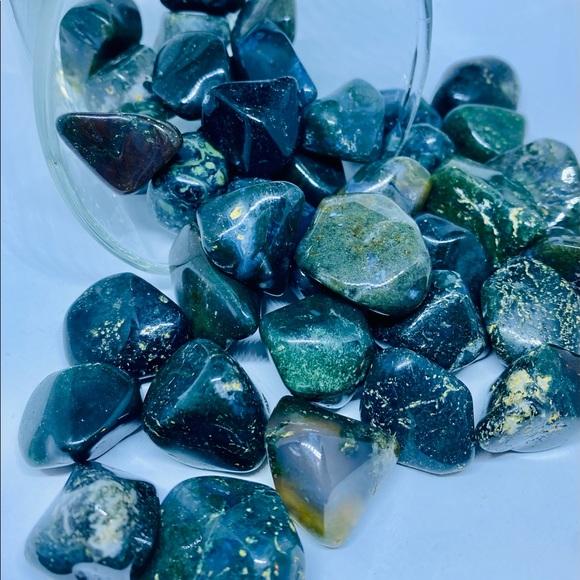 Moss Agate Tumbled Crystal